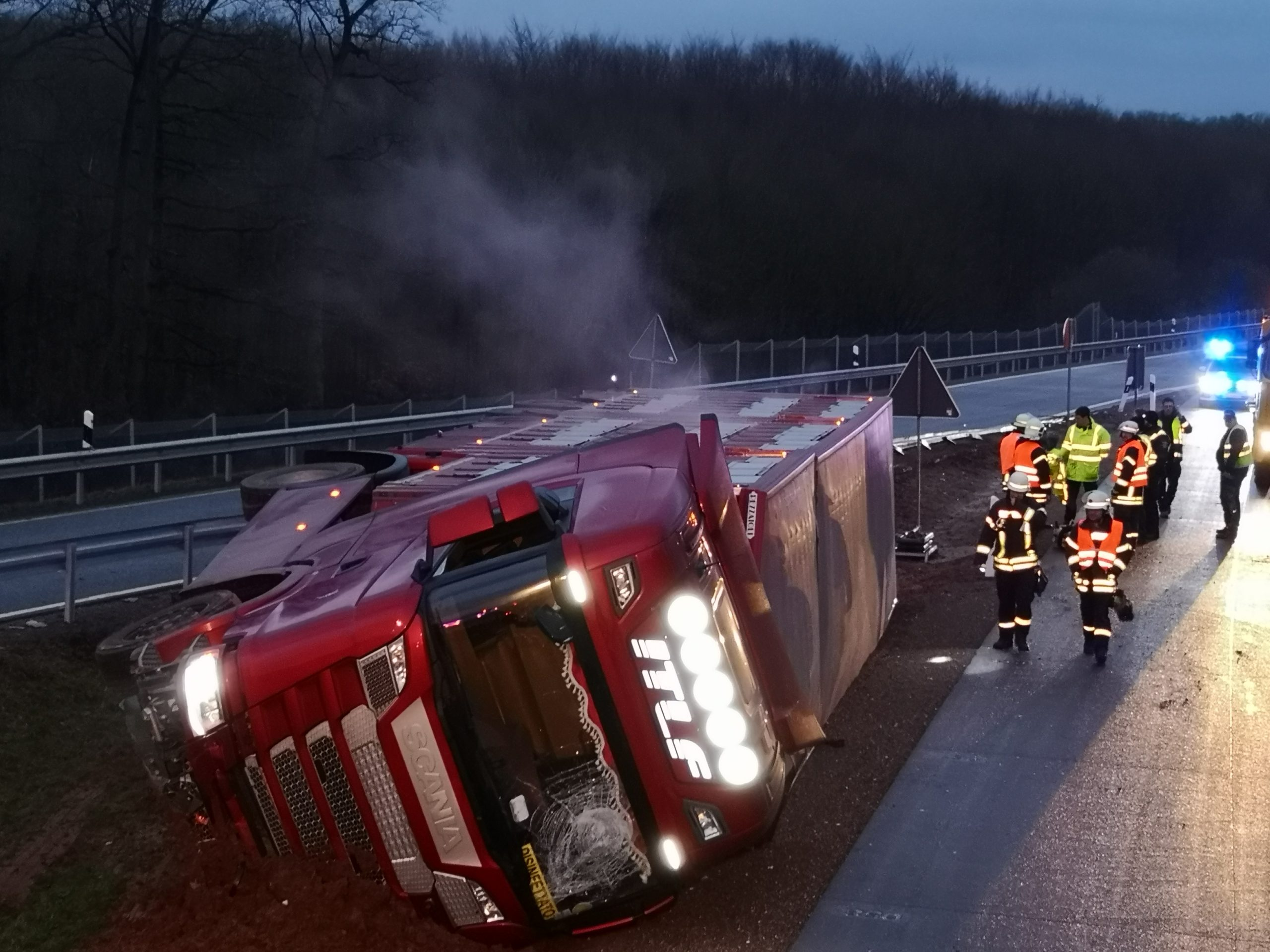 Lkw Unfall Frankreich